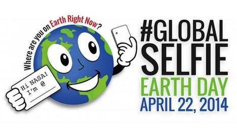Planetwide Selfie Campaigns - For Earth Day 2014, NASA is Helping the Earth Take a Selfie from Space