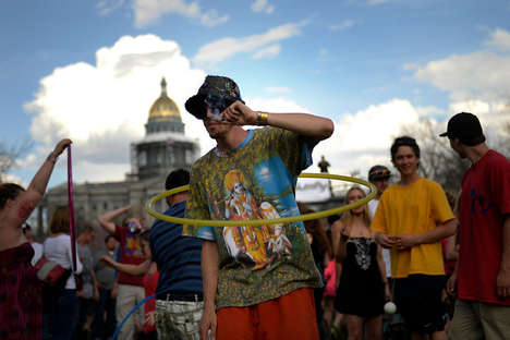 Hippie Cannabis Photography - This Photo Series Documents the 420 Rally in Colorado