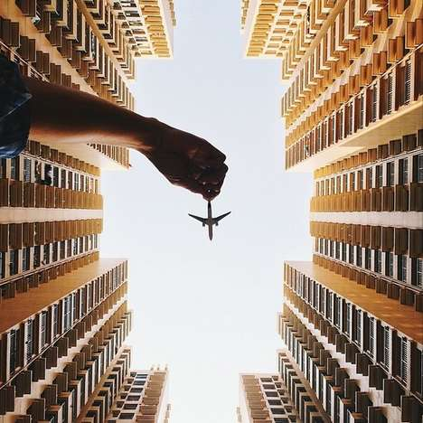 Imaginative Plane Photography - Varun Thota Snaps Deceptive Photos of Toy Airplanes