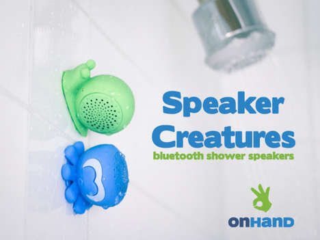 Suctioning Shower Speakers - Speaker Creatures by OnHand are Adorable and Practical