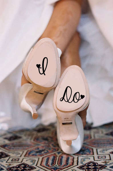 "Matrimonial Shoe Decals - These ""I Do"" Shoe Decals Lets Everyone Know You"