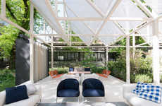 Geometric Garden Pavilions - Piero Lissoni Creates a Chic Outdoor Space for Relaxation