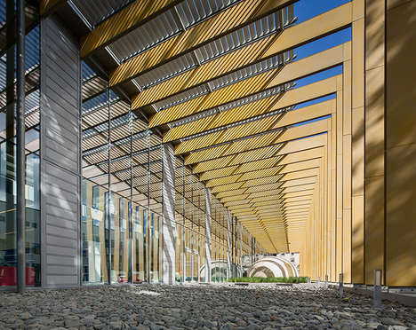 Steel Blade Structures - This Media Library by Opus 5 Architectes is Located in France