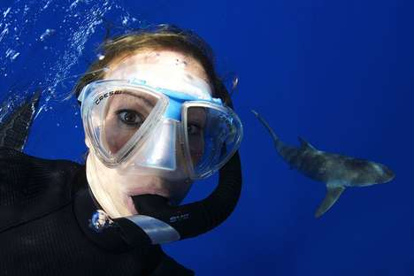 Shark Selfies - This Selfie Shows 16-Year-Old Margaux Cuylauerts Posing Near a Shark