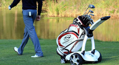 Robotic Golf Trollies - This Golf Caddy Makes Carrying Your Equipment a Breeze