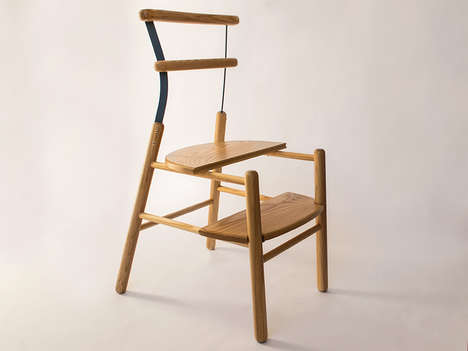 Minimalist Multifunctional Chairs - Studioventotto Creates the Suppergiu Step Ladder/Chair