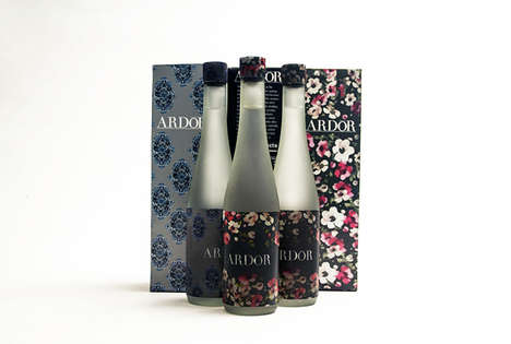 Fashionable Water Packaging - Ardor Branding is Inspired by Recent Floral Fashions