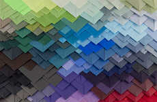 Transfixing 3D Paper Patterns - Geometry by Maud Vantours is Full of Bold Colors and Layers