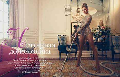 Domestic Goddess Editorials - Karolina Kurkova Stars in the Tatler Russia Issue