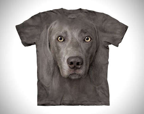 Hyperrealistic Animal Tees - Showcase Your Love for Cute Critters with These Big Face Animal Shirts