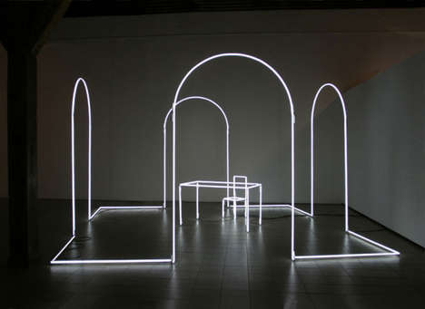 Room-Shaped Light Installations - Artist Massimo Uberti Reduces Each Space to Its Basic Essence