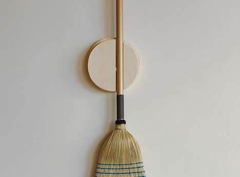 Spherical Sweeper Mounts - The Broom Holder is a Great Way to Keep Your Sweeper Off the Ground