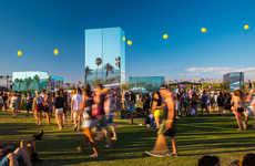 Reflective Festival Installations - Phillip K. Smith Designs the Reflection Field for Coachella