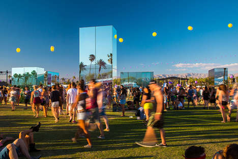 Reflective Festival Installations - Phillip K. Smith Designs the Reflection Field for Coachella