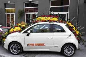 Floral Fiat 500s for Fashion Week