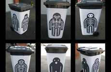 Guerrilla Trashcan Makeovers - The Five Black Bins Project