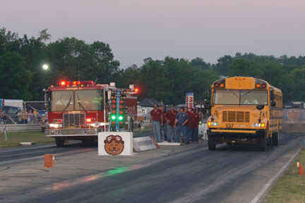 School Bus Drag Racing