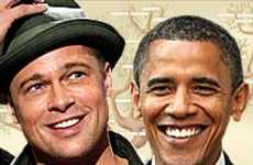 Brad Pitt, Barack Obama Are 9th Cousins
