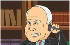 Cartoon Politicians - John McCain Tells VP Rejects About Sarah Palin