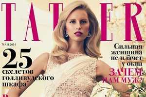 'Unexpected Housewife' from Tatler Russia Features Karoline Kurkova