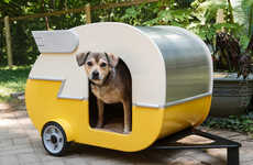 Cozy Canine Campers - This Dog House Lets You Take Your Puppy on a Camping Trip