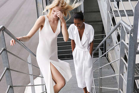 All-White Fashion Photos - The Zara SS14 Lookbook is Dressed in All-White Attire