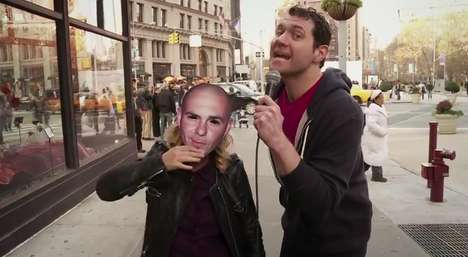 Celebrity Street Impersonations - Amy Poehler Wore a Pitbull Mask on Billy on the Street as a Prank