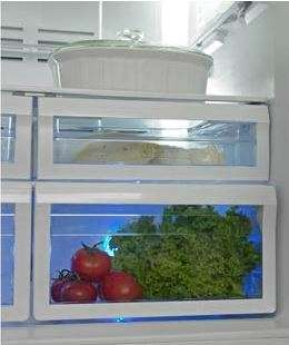Produce-Preserving Fridges - This Exclusive Blue Light Refrigerator Technology Keeps Food Fresher
