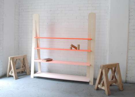 Ombre Minimalist Bookshelves - This Creative Modern Bookshelf is Funky and Easy to Assemble