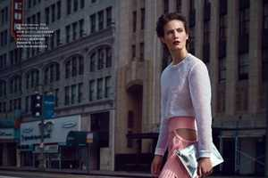 Harper's Bazaar Russia April 2014 Shows Models Donning All-Pink Outfits