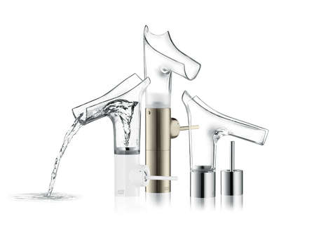 Transparent Washbasin Mixers - The Axor Starck V Collection is Both Beautiful and Functional