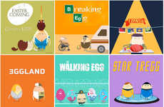 Eggy Pop Culture Parodies - Easy Explain Video's Easter-Inspired TV Show Spoofs Are Grade-A