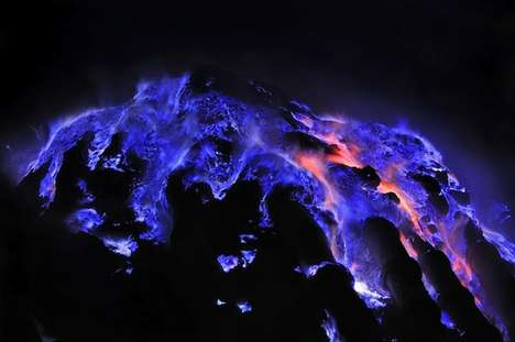 Illuminating Lava Photography - Olivier Grunewaldof Snaps an Active Indonesia Volcano Up-Close