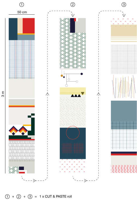Mismatched Wallpaper Motifs - The Cut & Paste Wallpaper Collection Doesn