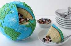 Planet-Celebrating Pastries - The Earth Cake by Beth Klosterboer Captures the Beauty of the Globe