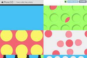 Tumblr Hosts a Colorful iPhone 5C Advertisement for Apple