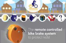 Kid Safety Cycling Devices - MiniBike's Remote-Controlled Bike Brake Makes Cycling Safer for Kids