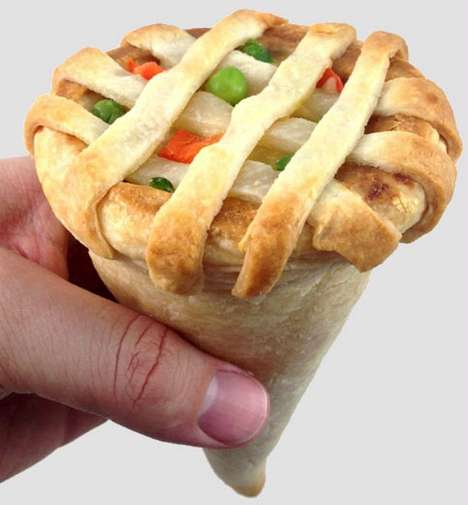 Chicken Pot Pie Cones - This Invention Lets you Eat Chicken Pot Pie on the Go