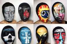 Album Cover Face Paintings - Natalie Sharp Uses Face Paint to Recreate Her Favorite Album Covers