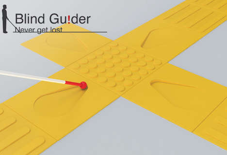 Info-Embedded Sidewalk Tiles - The Blind Guider System Verbalizes Location Details Via RFID Tech