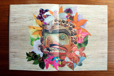 Psychedelic Surrealist Collages - This Flower Collage Art is Now Available in an Exclusive Zine