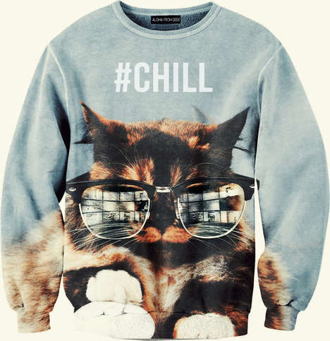 Carefree Cat Sweaters - The Chill Cat Sweater Invites You to Lay Back and Relax