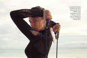 Vogue Spain May 2014 Features Adriana Lima Keeping in Shape