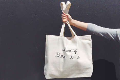 Lyrical Hip-Hop Totes - These Kolloquial Totes are a Way Back Play-Back
