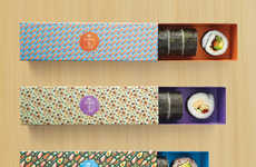 Custom Sushi Containers - The Sushi Boxes from Maki-San Resemble Chocolate Macaron Packages