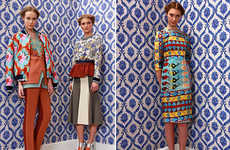 Victorian Modular Fashions - The Natasha and Tamara Surguladze Line is Full of Neon Geometric Prints