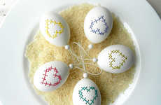 Delicately Embroidered Eggs