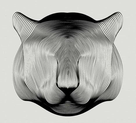 Perception-Altering Animal Art - These Andrea Minini Art Pieces Boast Intricate Moiré Patterns