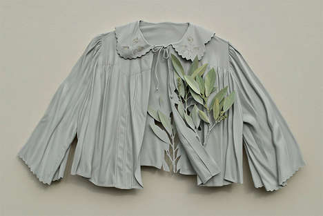 Deceptively Flowing Clothing Sculptures - Artist Ron Isaacs Creates Whimsical Camouflaged Outfits