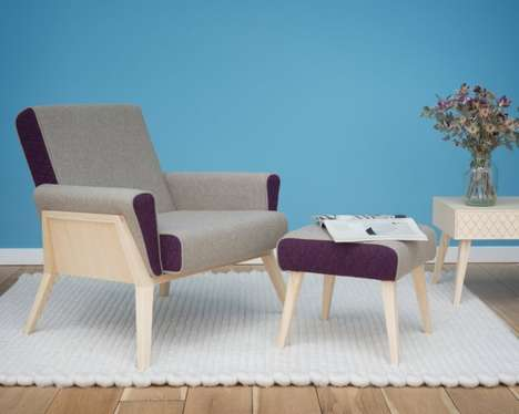 Modernized Woollen Fabric Furniture - The Aesh & Tweed Collection is Clean and Contemporary